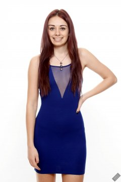 2020-02-02 Jessica Maria in her own blue dress