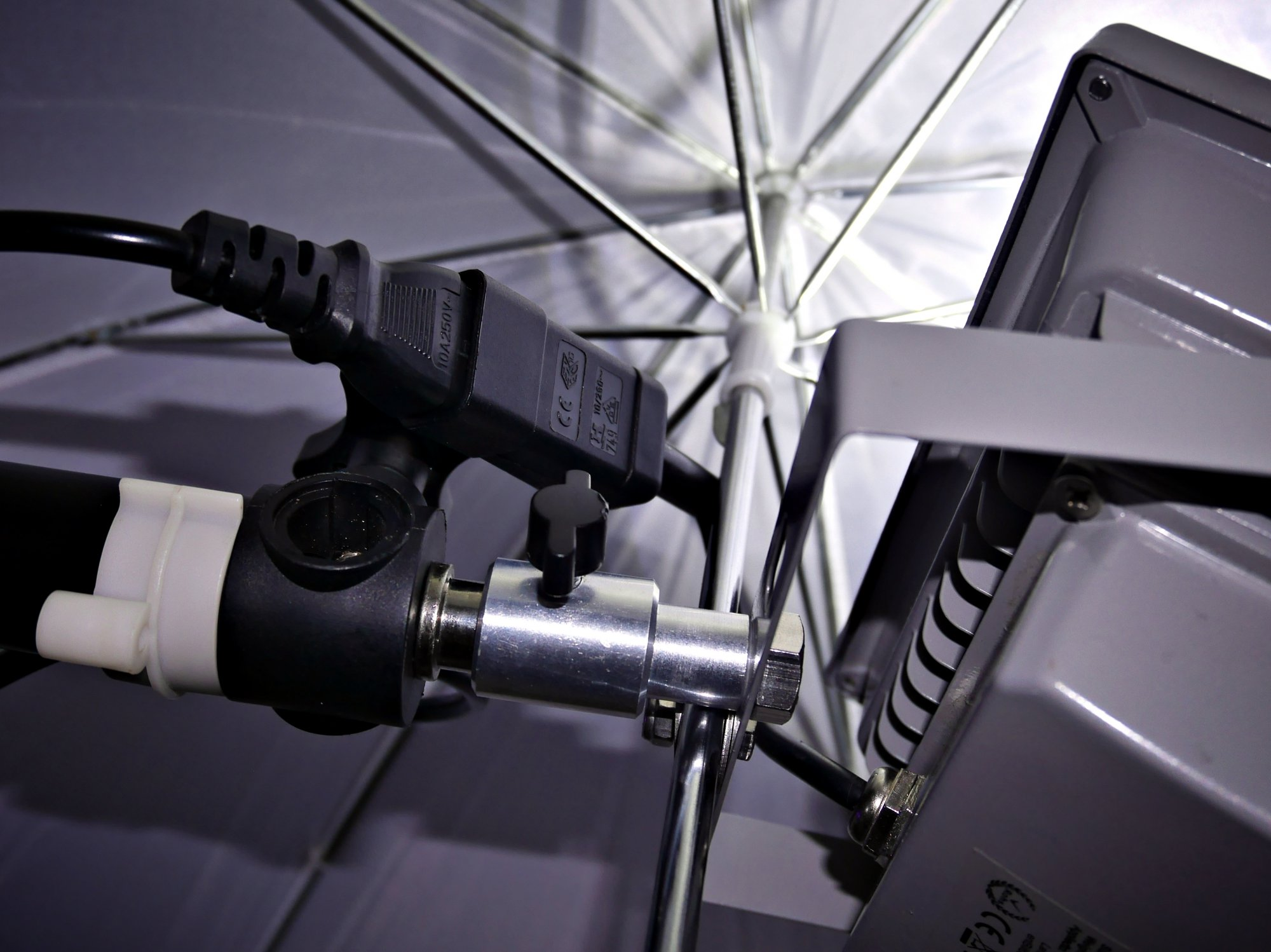 Adapting daylight white Chinese LED floodlights for studio use.