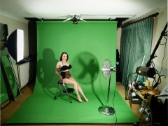 2016-05-07 Studio long-shot featuring model Emski her own shapewear, studio long shot