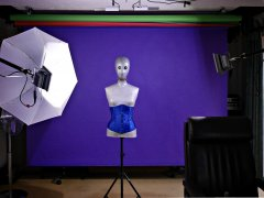 LED lighting demo. 2016-12-19 Studio long-shot featuring mannequin and LED continuous lighting