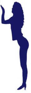 Chiara profile transparent blue icon 100x300px