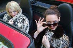 Carlie & Chiara in furs