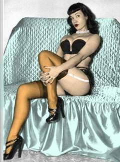 Bettie Page colour