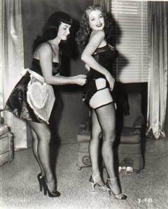 Bettie Page in lingerie