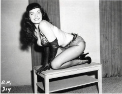 Bettie Page in gloves