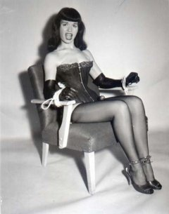 Bettie Page tied-up