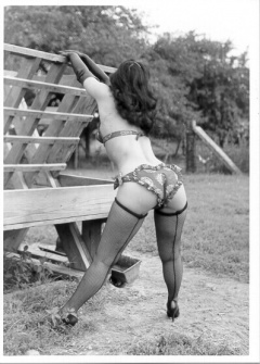 Bettie Page on the farm