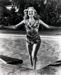 influences: Betty Grable in pool