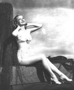 influences: Dale Evans, two-piece swimsuit