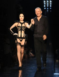 Dita von Teese and Jean-Paul Gaultier
