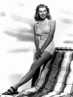 influences: Doris Day, two-piece swimsuit
