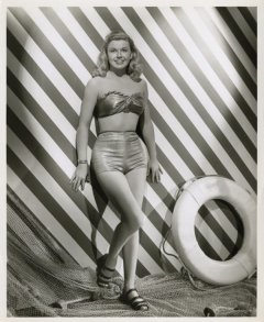 influences: Doris Day, tight two-piece swimsuit