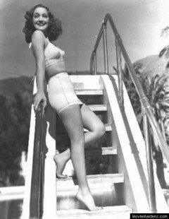 influences: Dorothy Lamour, tight two-piece swimsuit