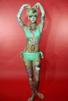 influences: Goldie Hawn in green bikini