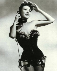 influences: Gypsy Rose Lee in corset dance costume