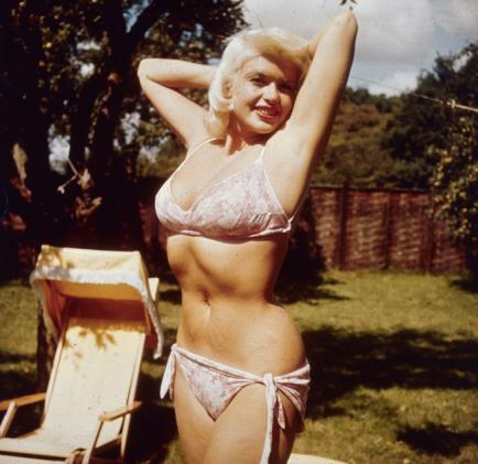 jayne mansfield white bikini