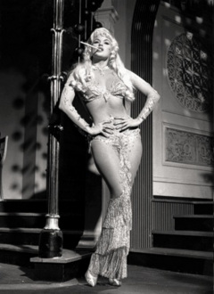 jayne mansfield dress gripping tiny waist