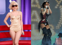 influences: Lady Gaga and Katy Perry in corsetry