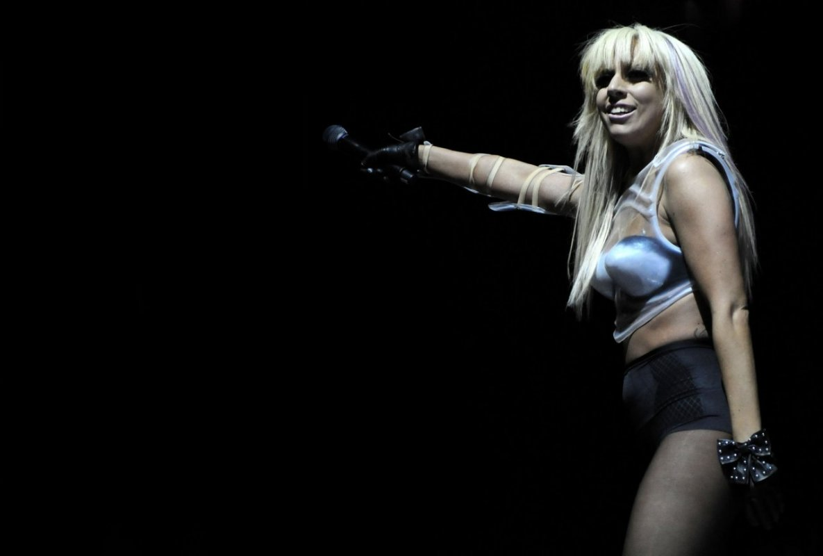 influences: Lady Gaga stage costume with control briefs