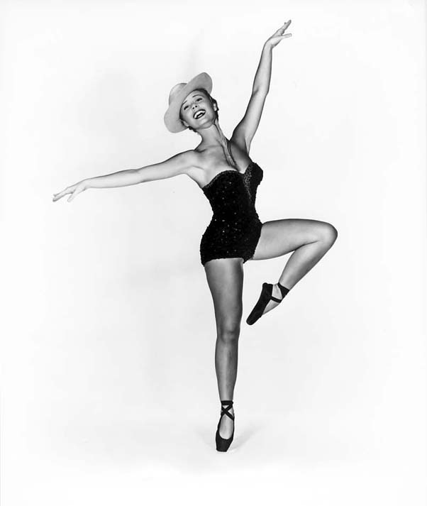 influences: Mitzi Gaynor posing in tight dance costume