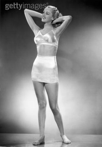 white bra and girdle
