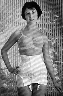 1950's amateur model in bra and girdle