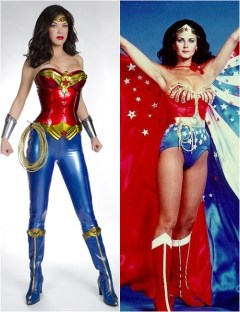 Adrianne Palicki vs Lynda Carter - Wonder Woman costume comparison