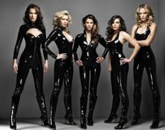 Black PVC bodysuits