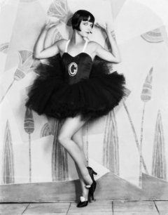 Louise Brooks Rolled Stockings