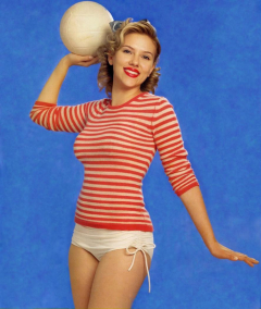 Scarlett Johansson volleyball